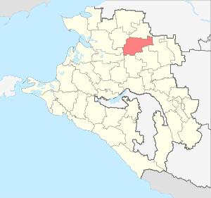 Расположение Павловского района на карте Краснодарского края