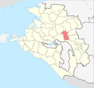 Расположение Тбилисского района на карте Краснодарского края