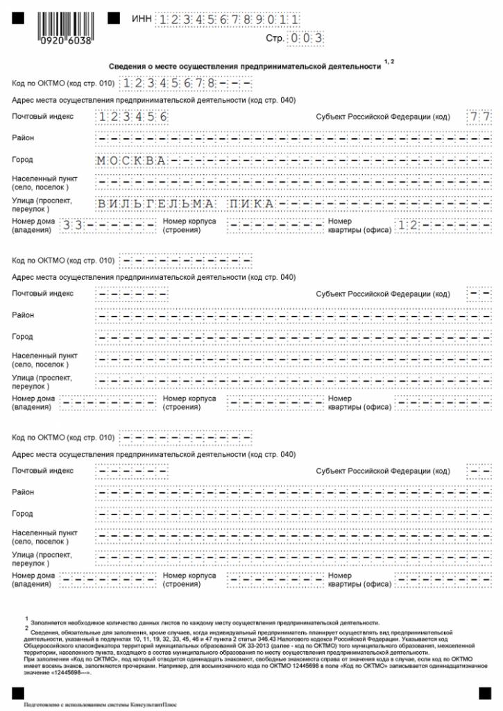 Образец заявления на получение патента, страница 3