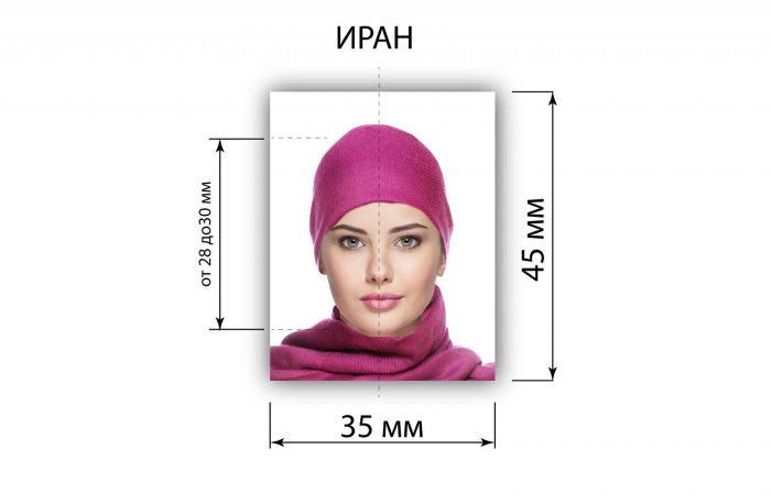 Требования к фото для иранской визы
