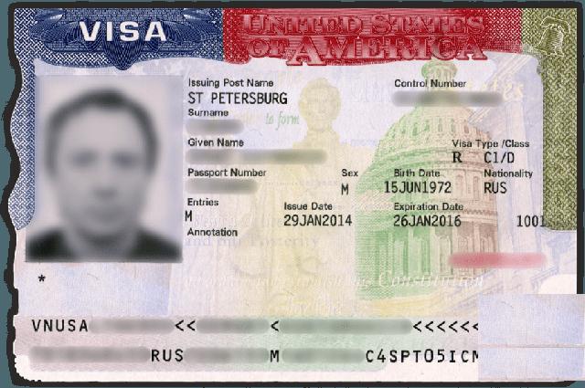 виза для моряков в США