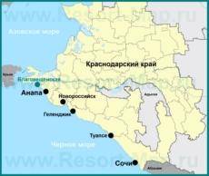 Расположение станицы Благовещенская на карте Краснодарского края