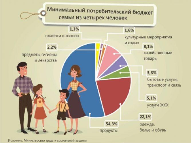 Месячные бюджет семьи