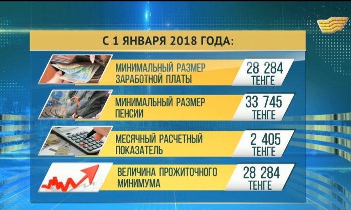 Минимальный размер прожиточного минимума в Казахстане в 2018 году