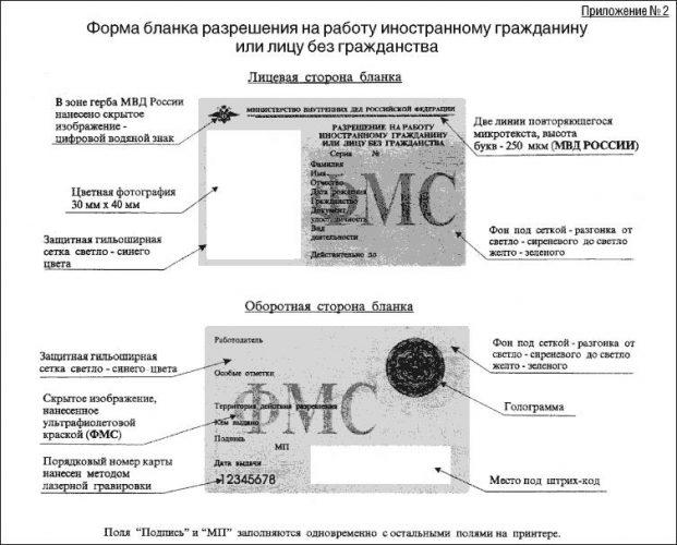 Разрешение на работу в России для иностранцев