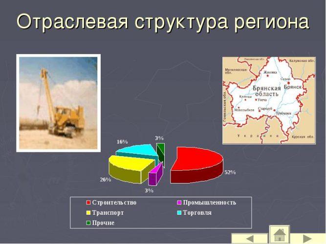 Структура экономики Брянской области
