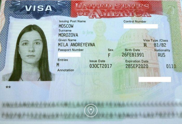 Американская виза,вклеивается в заграничный паспорт