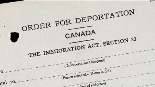 Ордер на депортацию из Канады