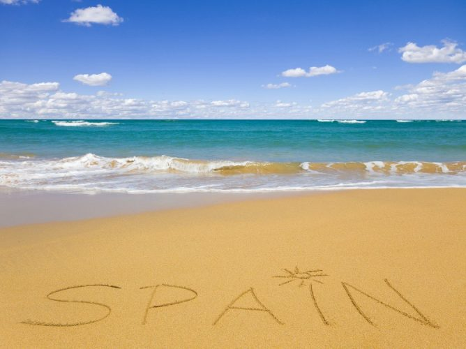 Пляж Испании.