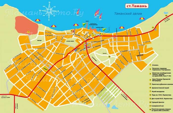 Карта станицы Тамань