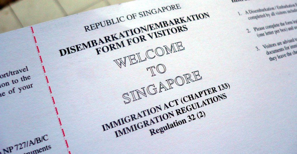 Заполнение анкеты для получения визы в Сингапур