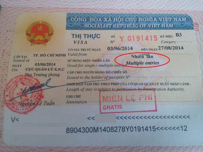 Мульти виза во Вьетнам