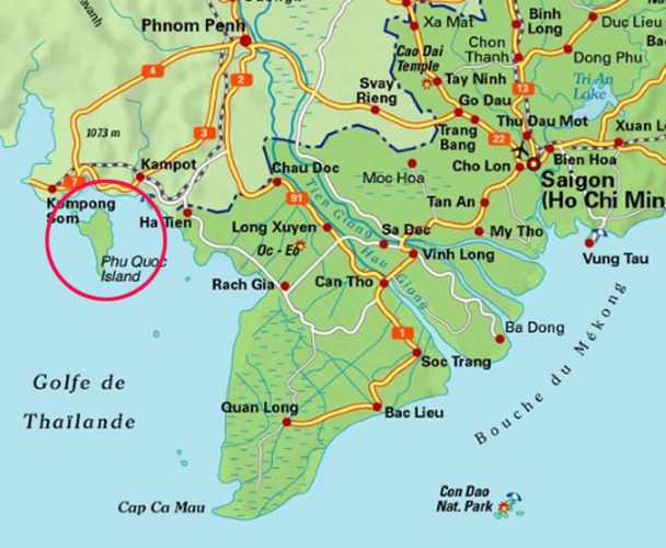 Фукуок на карте Вьетнама
