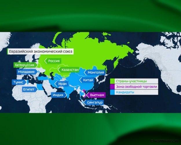 Евразийский союз на карте