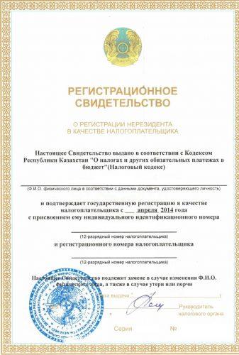 Так выглядит ИИН Казахстана для нерезидентов