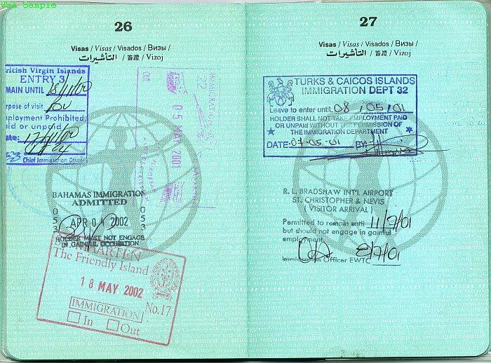 Так выглядят страницы паспорта мира для визовых отметок