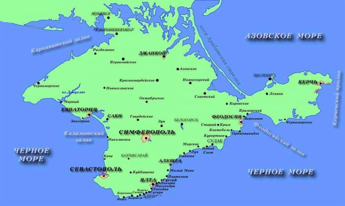 Карта Крыма