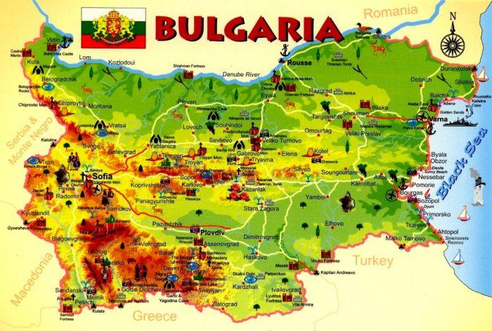 Карта Болгарии