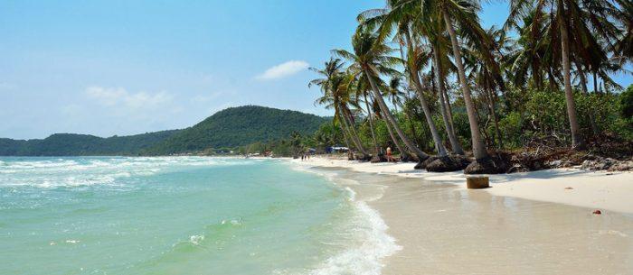 Звездный пляж (Бай Сао) на острове Фукуок, Вьетнам