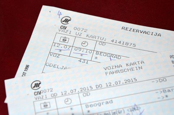 Билеты на поезд из Сербии