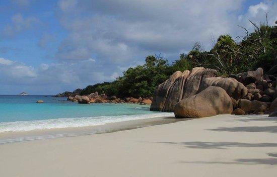 Пляж anse lazio на острове Праслин, Сейшельские острова