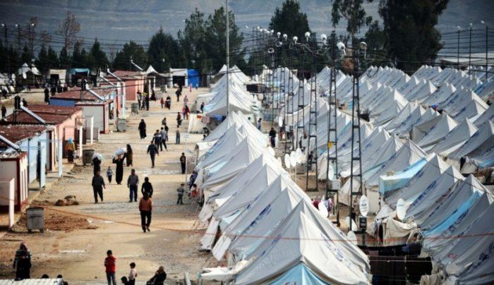Лагерь беженцев в городе Кале