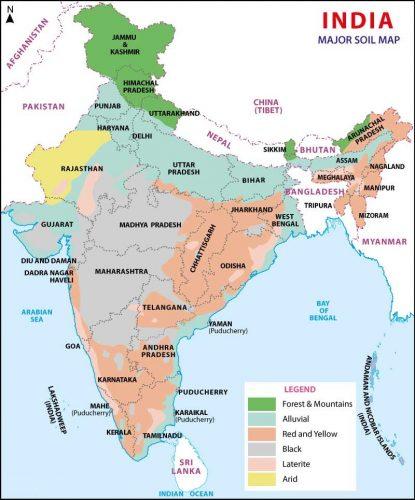 Виды почв в Индии