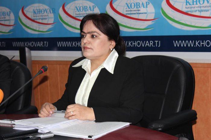 Первый заместитель директора Агентства пенсий и соцстрахования при правительстве Таджикистана Назокат Одиназова