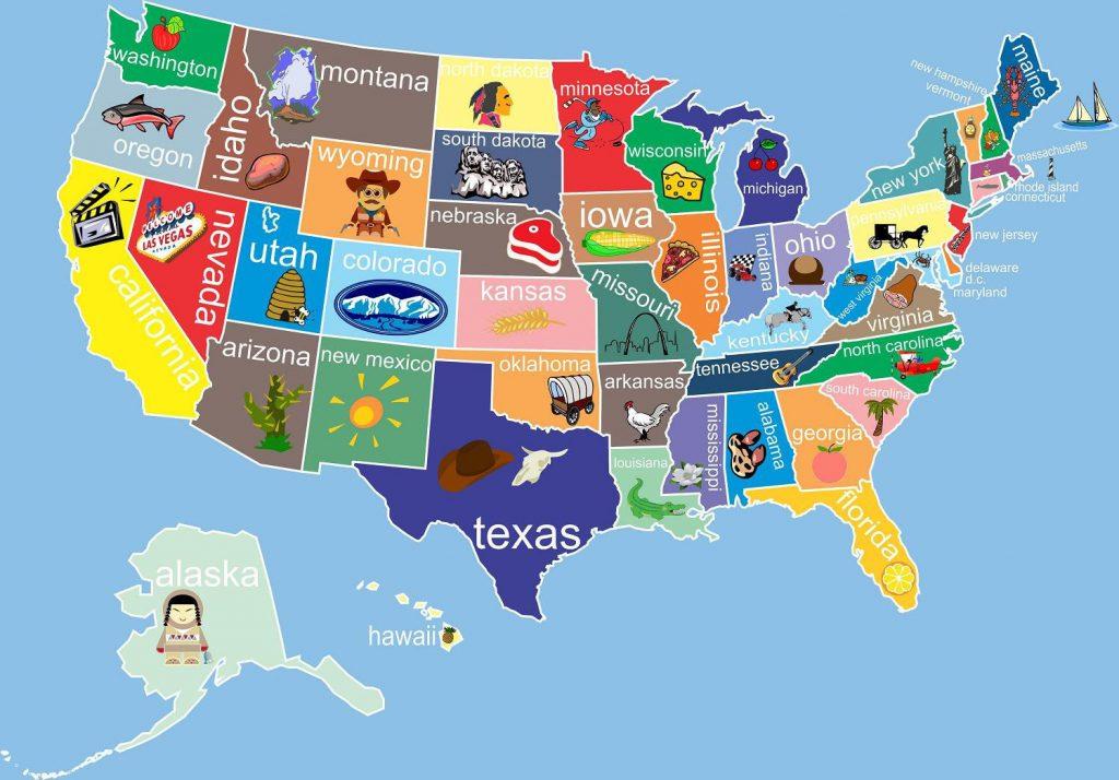 штаты в США