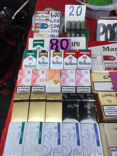 Стоимость сигарет в Паттайе