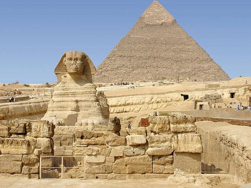 Храм Сфинкса. Плато Гиза. Египет.