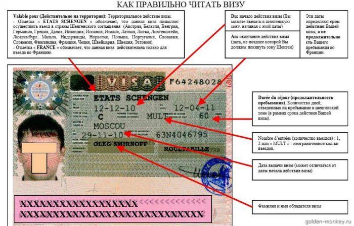 Правильное прочтение визы