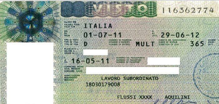Виза тип D в Италии