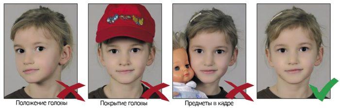 Требования к детскому снимку