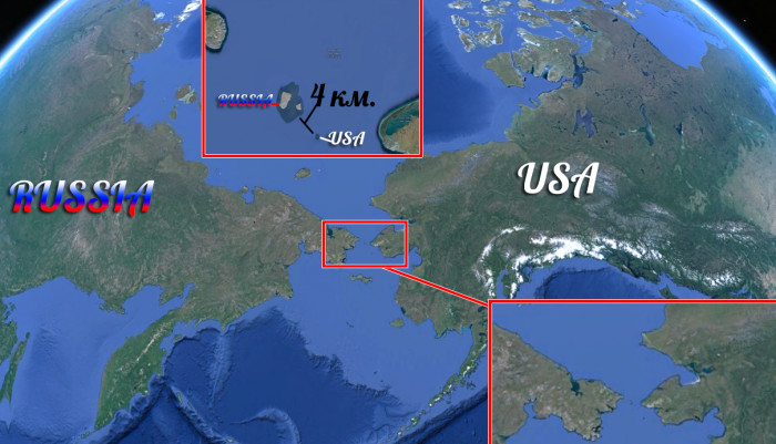 Расстояние между Россией и США