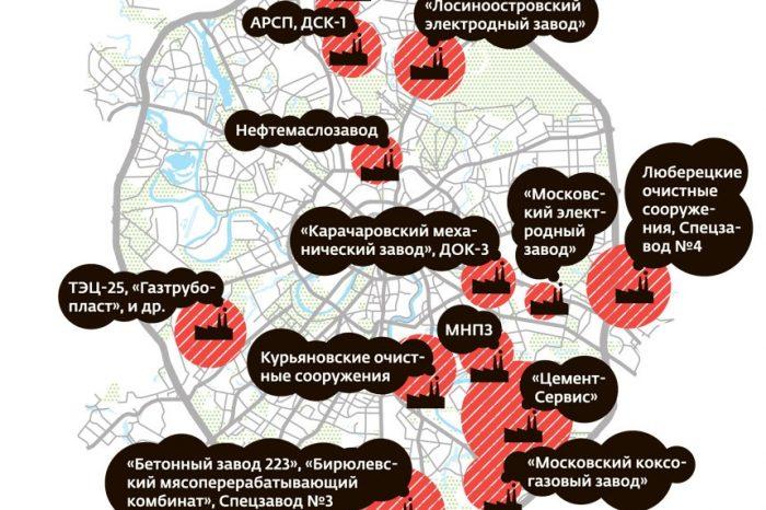 Карта вредных предприятий Москвы