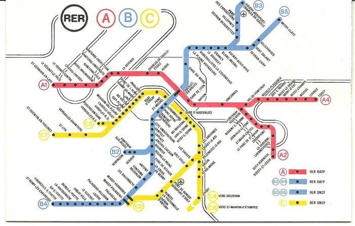Схема движения поездов RER