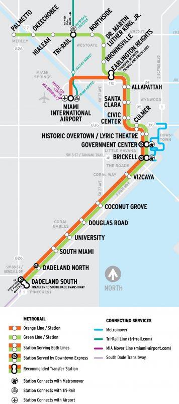 Схема движения поездов и станции метро