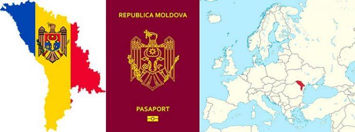 Расположение Молдовы на карте Европы