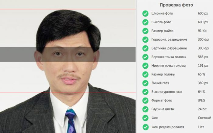 Требование к электронному изображению на визу в США