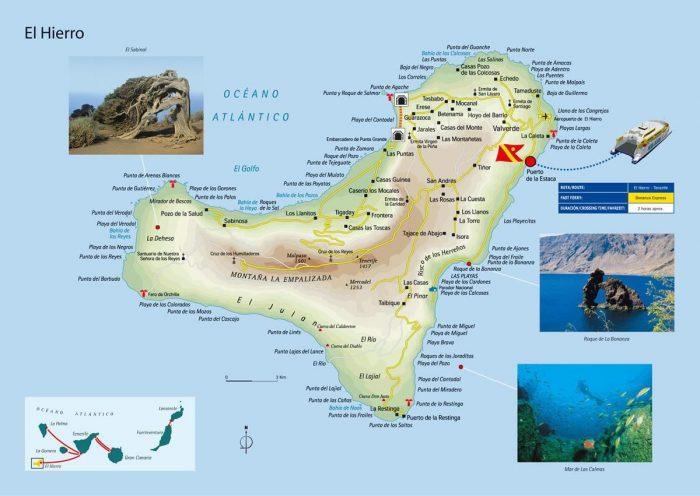 Канарские острова — туристическая карта