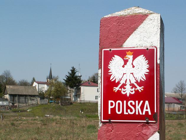 Пограничный польский столб