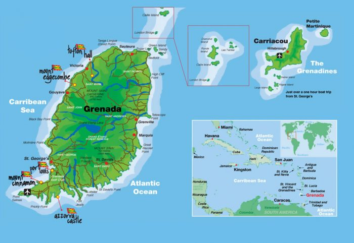 Карта Гренады