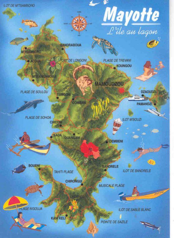 Майотта туристическая карта