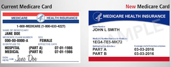 Карточка Medicare старого и нового образца
