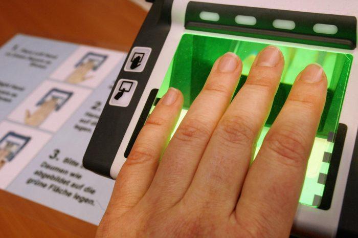 Сканер снятия отпечатков пальцев
