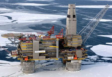 Нефтяная платформа в Норвегии