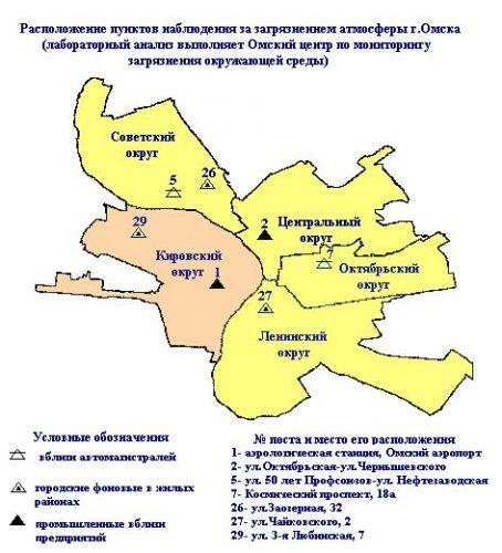 Карта Омска