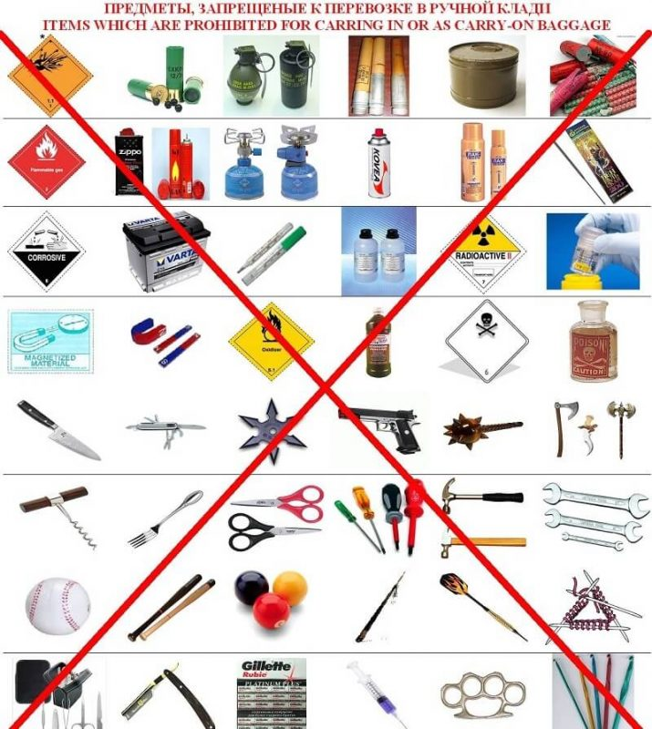Предметы запрещенные к перевозке