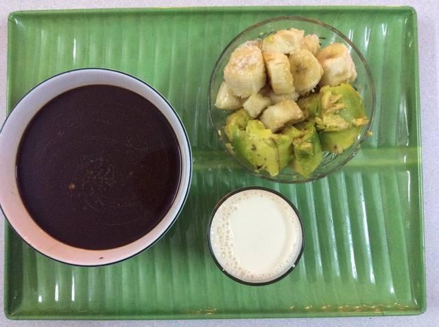 Кофе + банан + авокадо